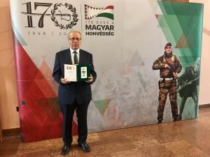 A Honvédelemért kitüntetést vehette át Kassai Ferenc
